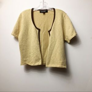 Sweaters - Kasper Gold Cardigan Sweater